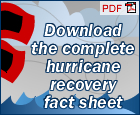 Download the Complete Hurricane Recovery Fact Sheet
