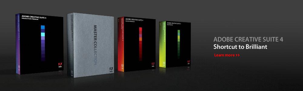 Adobe Creative Suite 4 - Shortcut to brilliant.  Learn more.
