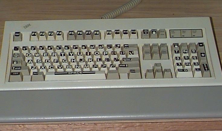 Keyboard with enlarged lettering