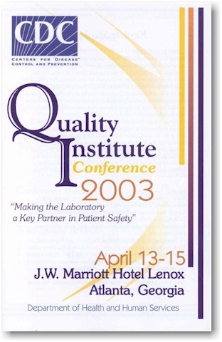 Image of the QI Conference Program Guide Cover