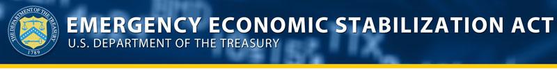 Banner: Emergency Economic Stabilization Act