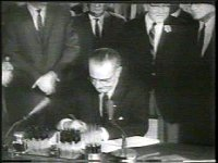 Signing of the Civil Rights Act of 1964