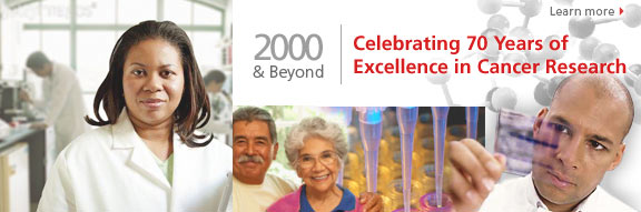 Celebrating More Than 70 Years of Excellence in Cancer Research.