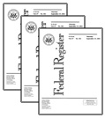 Multiple  Federal Register Issue.