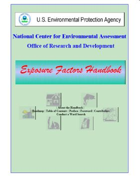 Cover of the Exposure Factors Handbook