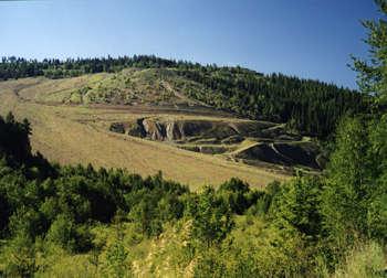 Vermiculite mine in Libby, Montana