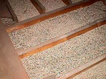 Close Up of Vermiculite Insulation in an Attic
