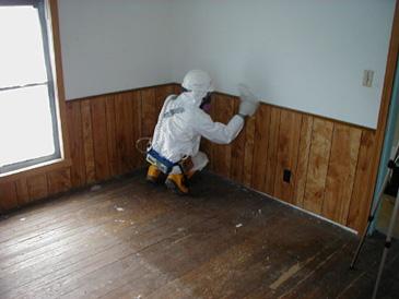 EPA worker screens for asbestos