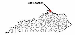 Map of site location Wilder, Kentucky