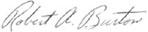 Signature of Robert A. Burton