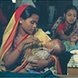 Against the Odds: Making a Difference in Global Health exhibition: Administering oral rehydration therapy, Bangladesh, 1980s. Courtesy ICDDR,B