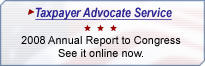 Taxpayer Advocate Service 2008 Annual Report to Congress. See it online now.