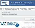 Screenshot of mobile checker beta