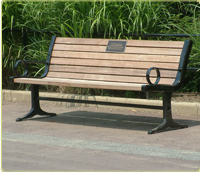 commemorative bench