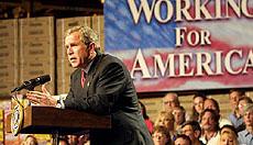 President Bush delivers remarks.