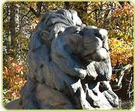 bronze lion profile
