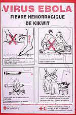 Ebola HF prevention poster, Kikwit, Zaire outbreak