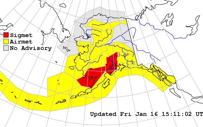 Alaska Aviation forecast zone map