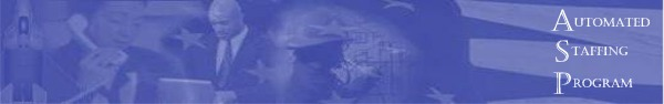 Image of office workers and firefighter, part of flag, all tinted blue with text SF50 Viewer text displayed.