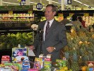 At a stop at a Meijer Retail Store outside of Detroit, Secretary Leavitt answers questions about how recommendations in the Action Plan will better product consumers. This Meijer store carries nearly 100,000 products, many that are imported.