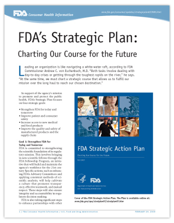 Cover of PDF version of this article, including cover image of the FDA Strategic Action Plan report