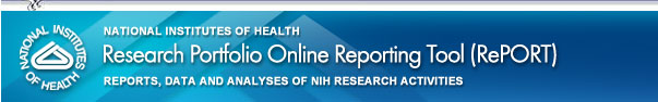 National Institutes of Health - Research Portfolio Online Reporting Tool (RePORT) Website Reports Data and Analyses (RDA) Of NIH Research and Development Activities