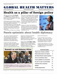 Cover of November-December 2008 issue of Global Health Matters