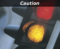"""Red and Yellow Traffic Light - """"Caution"""""""