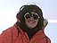 Laurie Leshin in a snowsuit