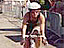 Pieternel Levelt riding a bike