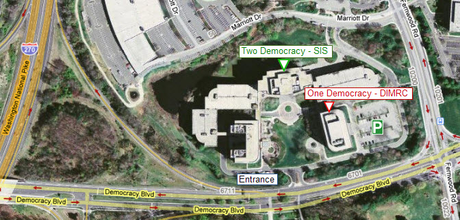 Map of One and Two Democracy Plaza