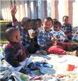 Children at an AIDS hospice for orphans in South Africa