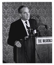 [Dr. Robert Q. Marston at a Regional Medical Programs meeting]. [ca. 1968-1973].