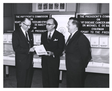 [Dr. Michael DeBakey, James H. Harrison, and Dr. Edward W. Dempsey]. [ca. 1964].