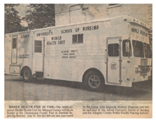 """Mobile Health Unit at Fair."" 22 July 1972."