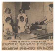 """""""Learning by Telephone at Olean General."""" 18 September 1968."""