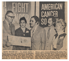 """""""Cancer Teaching Day."""" 20 October 1972."""