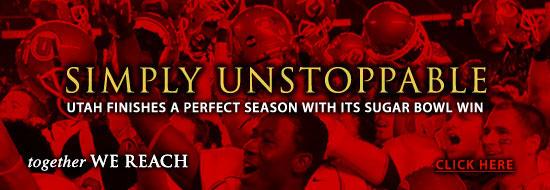 Catch the excitement of U athletics! The Utes won the Sugar Bowl!!