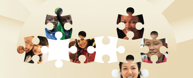 jigsaw puzzle with faces