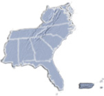 map of the Southeastern/Atlanic Region