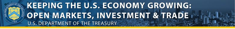 Keeping the U.S. Economy Growing: Open Markets, Investement & Trade banner