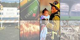 Montage of emergency photos