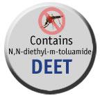 Busque la etiqueta del DEET