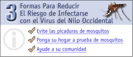 3 formas para reducir el riesgo de infectarse con el Virus del Nilo Occidental