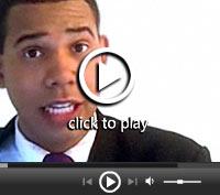 Barack Obama impersonator (© ET)