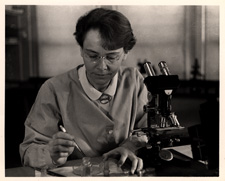 [Barbara McClintock in lab]. 26 March 1947.