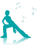 Icon of a person dancing