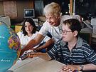 Photo of teacher and children at NIH Children's School