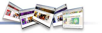 Header Graphic of 5 small images of  the websites