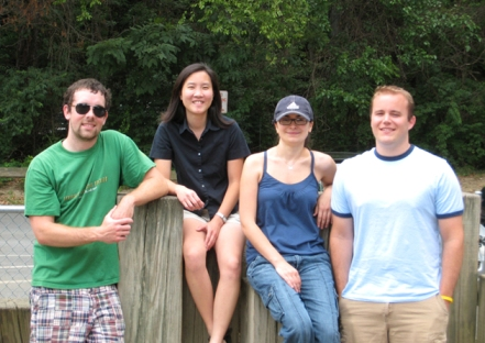 LCDB picnic July 2007: (left to right) Patrick Murphy, Elissa Lei, Nellie Moshkovich, Matthew Emmett